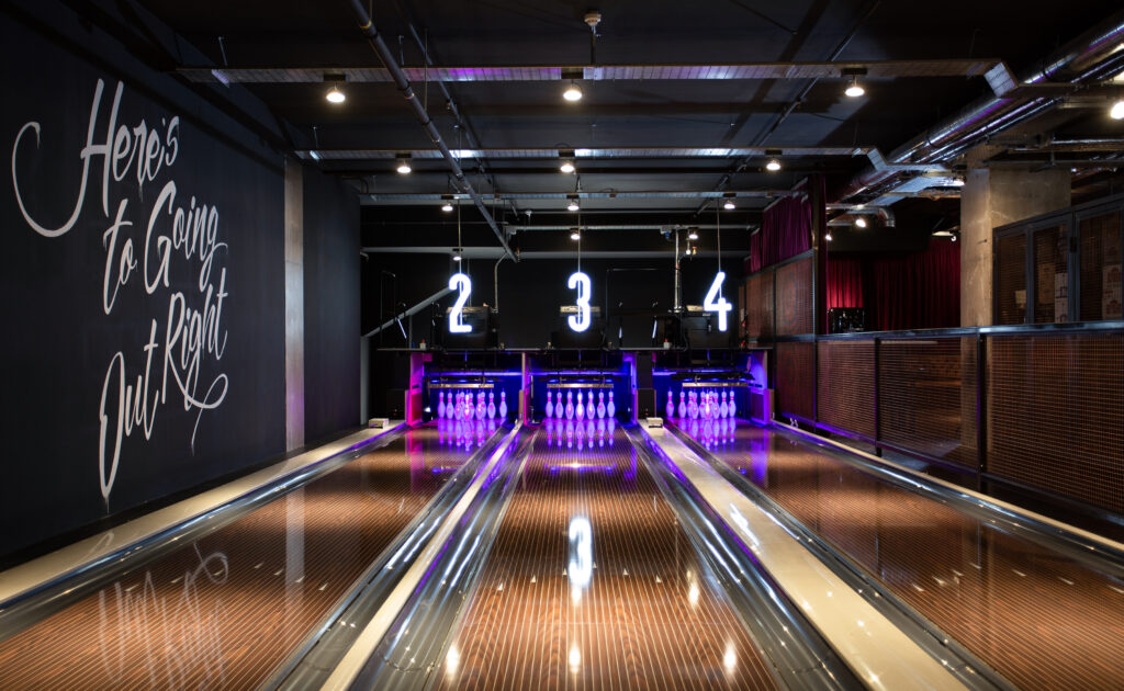 The bowling at Lane 7 Newcastle