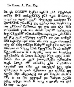 The Poe Cipher penned by Mr W. B. Tyler