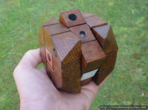 The original prototype of the Rubik's Cube
